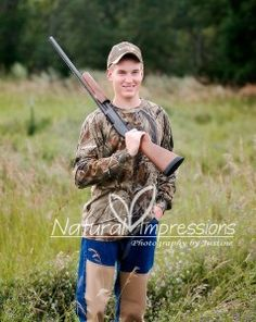 Senior Boy Hunting Picture