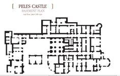 Peles.  -  basement. Castle Floor Plan, House Floor Plans, Hogwarts, School Floor Plan, Mansion Plans, Dover Castle, Peles Castle, Architectural Floor Plans, Castle House
