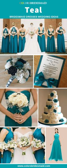 teal brides maid dresses Teal bridesmaid dresses, great for weddings with white bridal gown, bouquets, and wedding cakes and invites in white and teal. Teal Wedding Bouquet, Teal Bouquet, Teal Wedding Invitations, Wedding Colors, Invites, Teal Wedding Cakes, Teal Wedding Decorations, Teal And Grey Wedding, Teal Blue Weddings