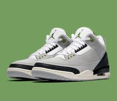 cf94b128c99714 Official Shots  Air Jordan 3  Chlorophyll  From  Tinker Icons  Pack - Sneaker  Freaker