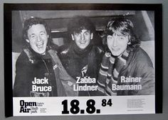 Jack Bruce with Zabba Lindner, Rainer Baumann Jack Bruce, Concert Posters, Movie Posters, Cream, Music, Movies, Creme Caramel, Musica, Musik