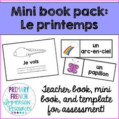 Great for French Immersion kindergarten or grade 1 Core French. Includes word wall cards and games to help teach the vocabulary in the book! Spanish Teaching Resources, Help Teaching, Teaching Writing, French Resources, Spanish Activities, Work Activities, Teaching Ideas, French Articles, Learn French Beginner