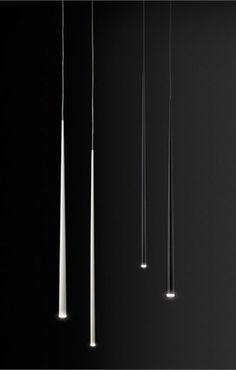 Slim by Vibia is a recessed hanging lamp giving off a soft LED light. Design by Jordi Vilardell. Element Lighting, Lighting Concepts, Cool Lighting, Modern Lighting, Lighting Design, Task Lighting, Diy Lampe, Lampe Led, Pendant Chandelier