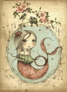 Mermaid ~ Leanne Ellis I think this would look wonderful as a tattoo!