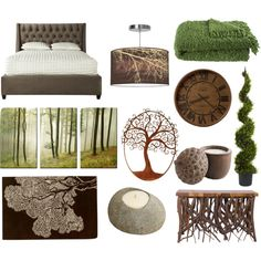 """Forest Themed Bedroom"" by pet387 on Polyvore"