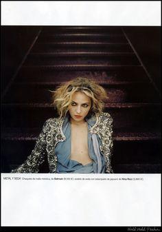 China Blues   Valentina Zeliaeva   Helena Christensen  #photography   Vogue Spain April 2008
