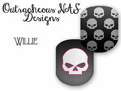 Willie G Skulls Custom Jamberry NAS Design