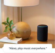 Echo Gen)- Smart speaker with Alexa- Charcoal Amazon Alexa Echo Dot, Amazon Echo, Amazon Fr, Best Smart Home, Smart Tv, Bedroom Gadgets, Amazon Fire Tablet, Le Cloud, Amazon Fire Stick