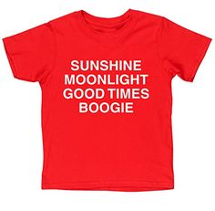 HippoWarehouse SUNSHINE MOONLIGHT GOOD TIMES BOOGIE kids short sleeve t-shirt HippoWarehouse http://www.amazon.co.uk/dp/B00XMY8OSG/ref=cm_sw_r_pi_dp_cfA6vb05K6FFA