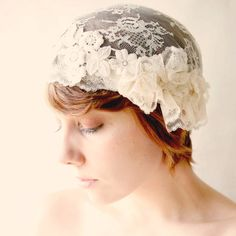 bridal lace headpiece 'the oracle'    Etsy