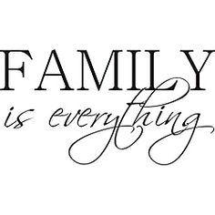 @Overstock - 'Family is Everything' Vinyl Art Quote - The black wall vinyl art reads Family is Everything. This wall art could add warmth and fine-feeling to many rooms. Add to the family room, the dining room, or anywhere your family gathers. Dimensions are 19.4 high x 36 long x 1/16 thick.  http://www.overstock.com/Home-Garden/Family-is-Everything-Vinyl-Art-Quote/6296154/product.html?CID=214117 $41.99