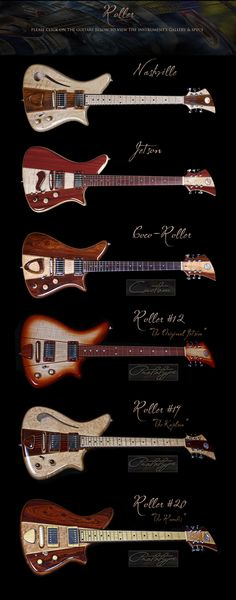 Becker Guitars - Retro-futuristic designs that look pretty killer.