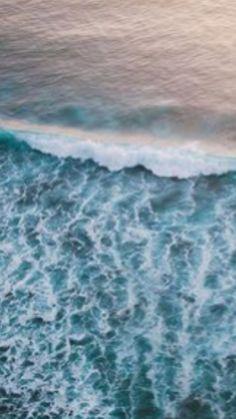 Waves meet shore