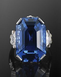 28ct Natural Ceylon Sapphire and Diamond Ring, Fred Leighton. It doesn't get any better than this!