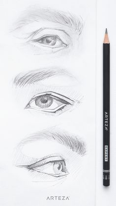 Art Drawings Sketches Simple, Pencil Art Drawings, Realistic Drawings, Human Drawing, Human Art, Eye Drawing Tutorials, Art Tutorials, Poses References, Eye Art