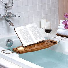 glass of wine, good book, and a bubble bath = so good for the soul