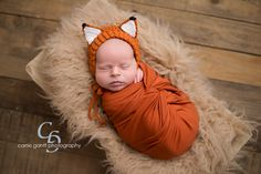 Baby Fox Bonnet, Woodland Baby, Enchanted Forest, Fox Hat, Newborn Photo Prop, Woodland Animal Hat, Baby Hat,  Baby Shower Gift by SweetnessInSmyrna on Etsy https://www.etsy.com/listing/462450141/baby-fox-bonnet-woodland-baby-enchanted