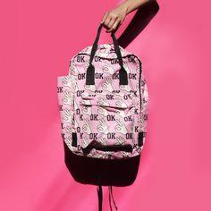 Fun backpacks OK! #backpacks #prints #quirky #pink