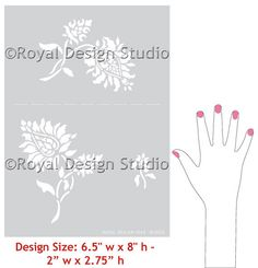 Wall Stencils | Oriental Brocade Elements | Royal Design Studio