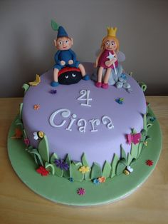 Elena requested a Ben and Holly cake and this would be perfect, especially with the purple base, whic is her current fave colour!