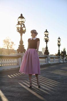 Tea length skirt and a sweet little tee