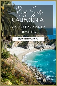 Your guide to all things accessible in incredible Big Sur, California. From wheelchair accessible hiking trails to ADA compliant campgrounds, cabins, and hotels, learn everything you need to know to plan your ideal Big Sur trip. Enjoy top restaurants, art galleries, beaches, and other Big Sur attractions, all with accomodations for travelers with mobility issues, as well as hearing and/or visual impairments. #BigSur #CaliforniaTravel #TravelForAll #EhlersDanlos #TravelBlogger…