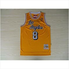 Mens Los Angeles Lakers Kobe Bryant 8 Yellow Retro Authentic NBA Jersey on eBid  United States 77a0147c9