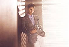Sean O'Pry shows off the timeless sartorial sophistication of Sarar's classic brand of suiting.