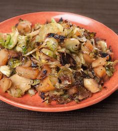 Brussels Sprout and Apple Hash. Made this tonight. It was good but definitely let the Brussels cook long enough to take out the bitterness.