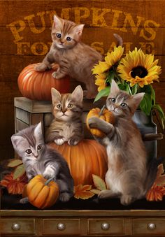 Autumn Kittens - Thomas Wood