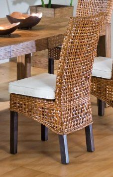 Kitchen sets on pinterest wicker chairs wicker and for Table et chaise en osier