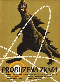 These Rarely-Seen Godzilla Posters Show You A New Face Of The Monster | Czech poster for Godzilla, 1956
