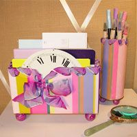 How to make desk set organizers using repurposed and recycled items