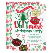 PrinterFairy: Products on Zazzle Christmas Birthday Party, Christmas Party Invitations, Birthday Party Invitations, Christmas Eve, Christmas Ideas, Ugly Sweater Party, Mask Party, White Envelopes, Being Ugly
