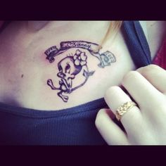my tattoo <3 <3 # tweety #nanny