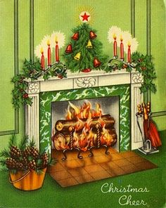 Vintage Holiday Cards and Paper Christmas Card Images, Old Time Christmas, Vintage Christmas Images, Christmas Graphics, Christmas Scenes, Old Fashioned Christmas, Christmas Past, Vintage Holiday, Christmas Greeting Cards