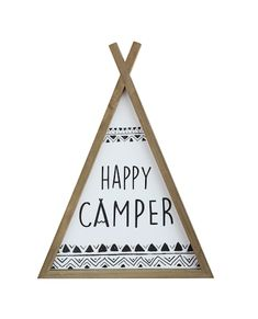 Wood Teepee, Camper Quotes, Camper Sayings, Creative Co Op, Remodeled Campers, Art Wall Kids, Wall Art, Happy Campers, Rv Campers