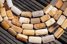 Petrified honey Palm wood / Fossilized Palm wood by sparklelittle, $21.00