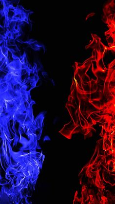 Fire Vs Ice IPhone Wallpaper - IPhone Wallpapers