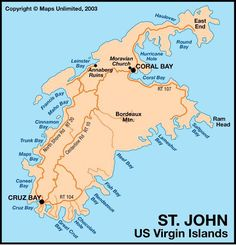 Map Of St John S Island One Of My Favorite Places So Quiet