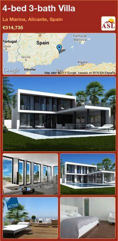 4-bed 3-bath Villa in La Marina, Alicante, Spain ►€314,735 #PropertyForSaleInSpain