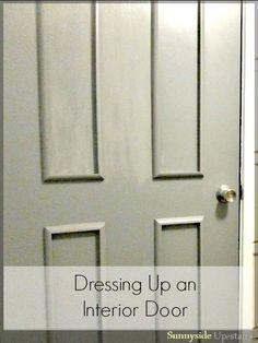 40+ Ways to Update Flat Doors and Bifold Doors & How to add trim to a door so make it look like a raised panel door ... Pezcame.Com