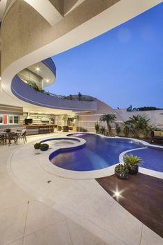 Luxury design Cozinha - Vamos dar On Your Newburgh Cozinha . Outdoor Swimming Pool, Swimming Pools, Victorian Bath House, Hotel Pool, Modern Mansion, Pool Designs, My Dream Home, Modern Architecture, Luxury Homes