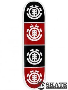 Element Quadrant White Deck 8.0 x 31.75