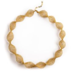 INFINITY Wire Crochet Gold Bridal Necklace