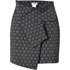 KENZO Eye Print Mini-Skirt found on Polyvore