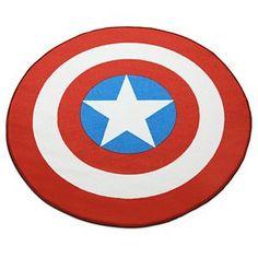 Captain America Printed Round Rug | ThinkGeek
