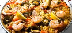 I haven't had paella in Spain, but if I ever hit up Valencia I know paella will be on my must eat list. Paella has bits of everything I love: rice, seafood, and most importantly, crispy burnt parts. Mixed Paella Recipe, A Food, Good Food, Seafood Paella, Chicken Paella, Chicken Chorizo, Mussels, Fish Dishes, Stuffed Peppers