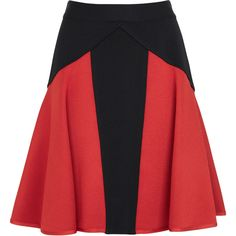 Givenchy Two-Tone Stretch Jersey Skirt ($1,590) ❤ liked on Polyvore
