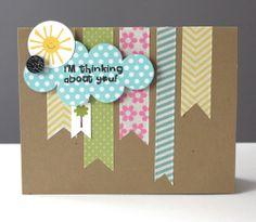 Washi Tape Cards Tarjetitas con washi tape via Cards by Alice